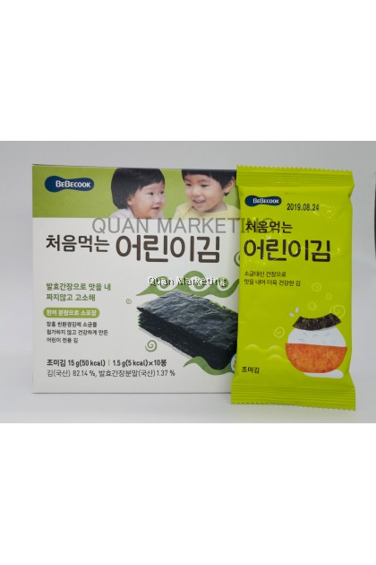 BeBecook Sun-Dried Seaweed Laver (Original) for 12+ months