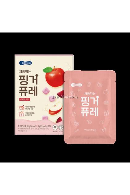 BeBecook Freeze-Dried Puree Melts w Probiotics - Apple & Beet Flavor 7mth+