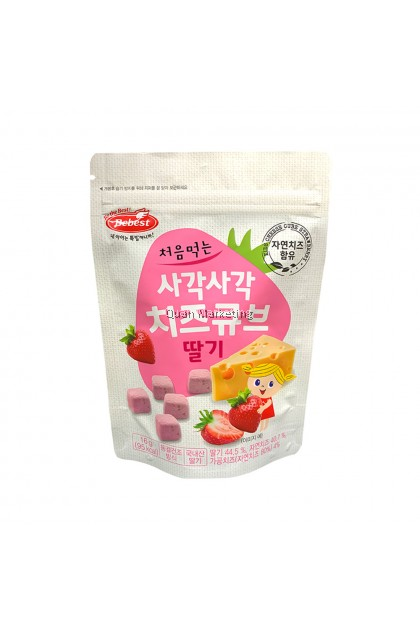 BeBest Freeze-Dried Cheese Cube - Strawberry for 12+ months