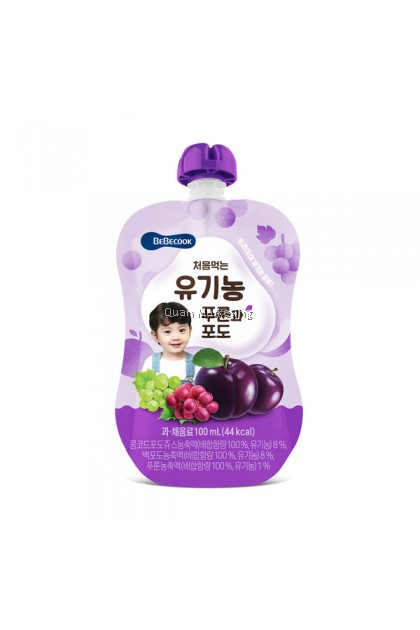 BeBecook Organic Plum & Grape Juice 100ml for 7+ Months