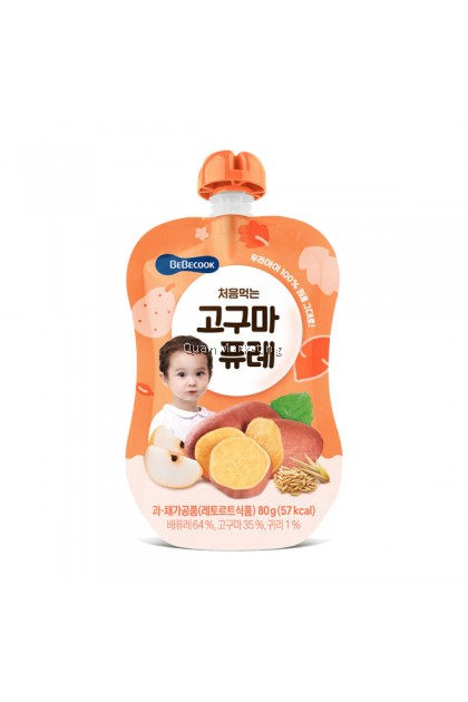 BeBecook - My First Yummy Puree (Sweet Potato w Oatmeal) 80g for 6 months+