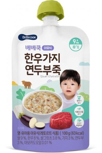 BeBecook Beef Eggplant Tofu Baby Porridge100g - for 9+ Months And Above